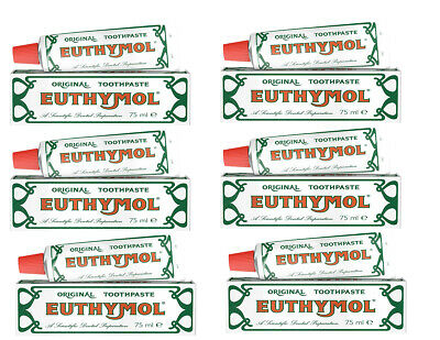 Euthymol Original Toothpaste 75ml Pack of 6