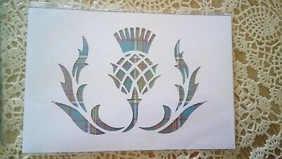 7x5 picture mount or stencil thistle
