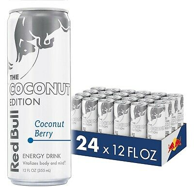 Red Bull Energy Drink Coconut Berry 24 Pack of 12 Fl Oz Coconut Edition