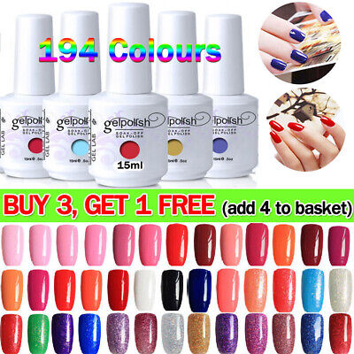 15ML Soak Off UV LED Gel Polish Base Top Coat Manicure Varnish Lacquer UK Stock