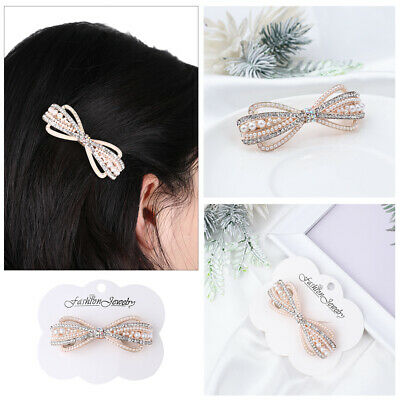 Headwear Accessories Cute Hairpin Crystal Hair Clip Hairgrip Pearl Barrettes