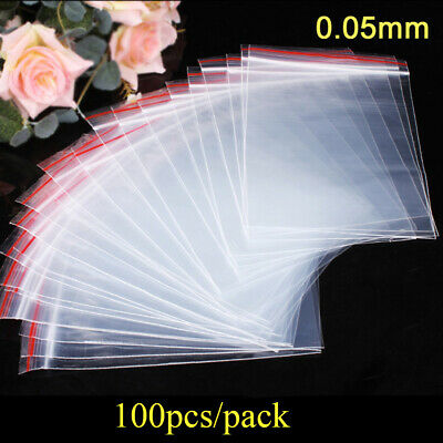 PE Pouch Self Adhesive Jewelry Zip Bags Plastic Ziplock Bag Poly Clear