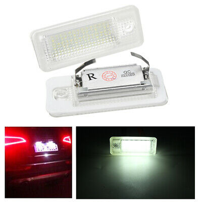 Pair LED Canbus License Number Plate Light For Audi A6 C6 S6 A4 S4 B6 B7 S8 A8