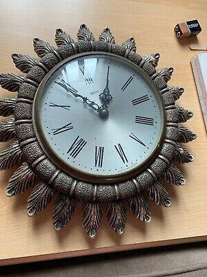 Smiths Antique Vintage Wall Clock In Working Order