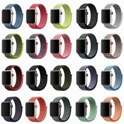 38/42mm 40/44mm Nylon Woven Sport Loop iWatch Band Strap For Apple Watch 5 4 3 2