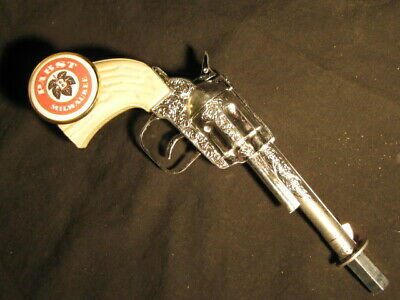 beer tap handle old western six shooter pabst blue ribbon