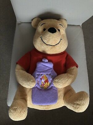 Winnie The Pooh M & S Hot Water Bottle Cover (With Bottle)