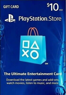 PlayStation Store $10 USD Gift Card | [US] PSN - PS4/PS3/.. | Fast Shipping