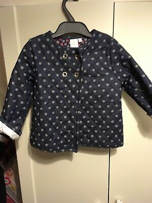 Girls Jasper Conran Denim Jacket Coat 18-24 Months