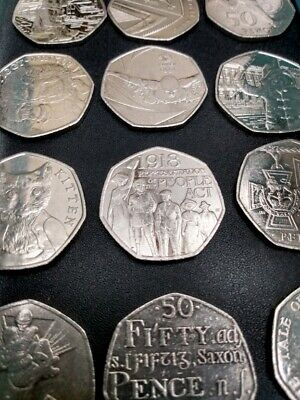 CIRCULATED, QUALITY (50p) FIFTY PENCE COINS, BEATRIX POTTER, 2017 SHIELD + MORE!