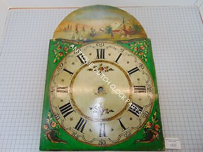 Antique Hand Painted Dial For A Friesian Tail Clock
