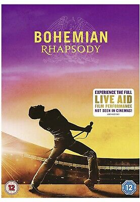 Bohemian Rhapsody [2018] Queen (DVD) FREE NEXT DAY DELIVERY Brand New