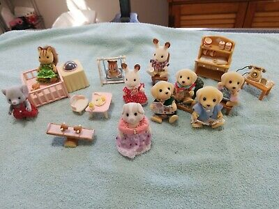 Sylvanian Family Calico CRITTERS MIX Dog Figures and Furniture  Lot Epoch