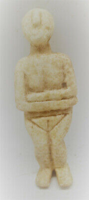 Scarce Ancient Cycladic Pre Aegean Stone Carved Idol Circa 3000Bce Ancient Greek