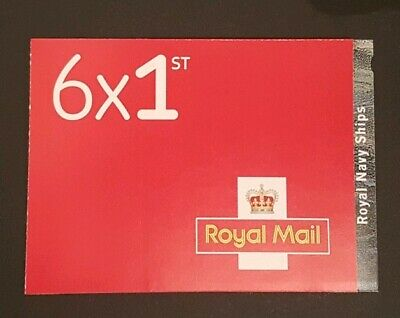 ROYAL NAVY SHIPS 6 x 1ST RETAIL BOOKLET -  NON CYLINDER - ISSUED 19/09/19 - PM69