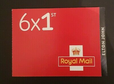 ELTON JOHN 6 x 1ST RETAIL BOOKLET -  NON CYLINDER - ISSUED 3RD SEPT 2019 - PM68