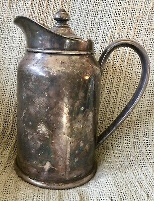 Antique Reed & Barton Silver Soldered Jug Pitcher