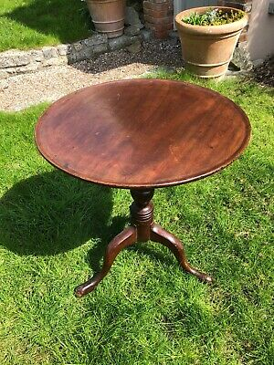 Antique Mahogany tripod table Georgian Tilt Top breakfast Tea