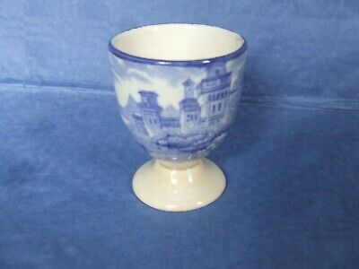 Antique blue & white transfer ware egg cup