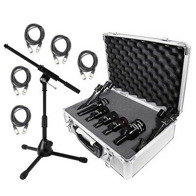 Audix DP5a 5 Piece Drum Kit Package with 5 XLR Cables and Stand