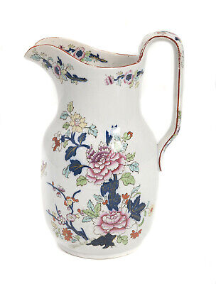 Antique Early 19th Century Davenport Pottery Imari Chinoiserie Pattern Jug