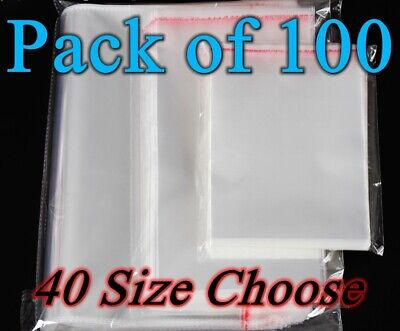 Medium Self Sealable seal OPP Clear plastic Cellophane bags Adhesive 40 size