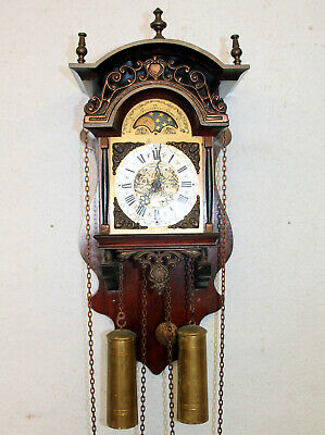 Old Wall Clock Friesian Dutch Saarlande Clock Moonphase Wamink Wuba