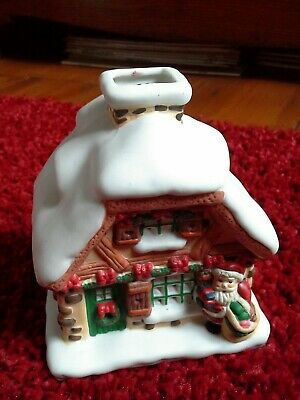 XMAS Ceramic Tea Light Ornament Used