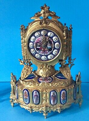 Stunning 19th C French Gilt Clock Garniture - Le Roy et Fils - Paris Maker