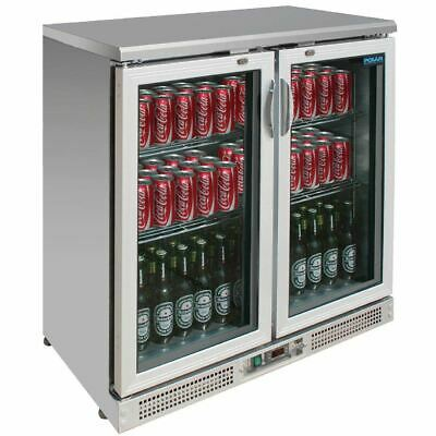 Polar Commercial Bar Fridge Display Cooler 180 Bottles Hinged