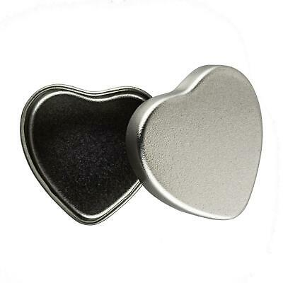 20ml Small Silver Heart Shaped Tin - Candle Making Sweets Mints Wedding Favour