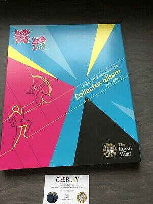 LONDON 2012 OLYMPIC GAMES 50p OFFICIAL SPORT COLLECTOR ALBUM GOOD CONDITION SUN.
