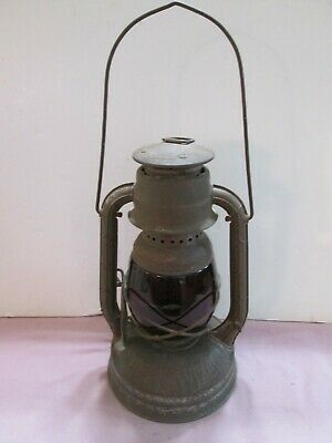 Antique Dietz Little Wizard with Red Globe Lantern