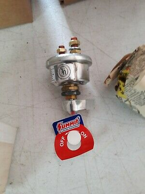 Summit Racing G1432 Battery Disconnect Switch Rotary 20 Continuous Amps Rating