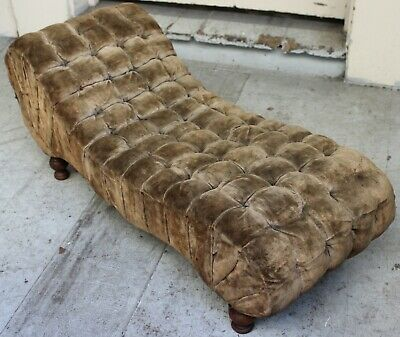 Vintage Child Large Doll Size Victorian Fainting Chaise Lounge