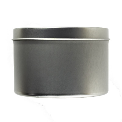 Large Seamless Silver Tin 250ml - Candle Making Storage Sweets Wedding Favour