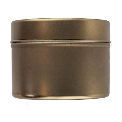 Small Rose Gold Seamless Tin 100ml - Candle Making Storage Sweets Wedding Favour
