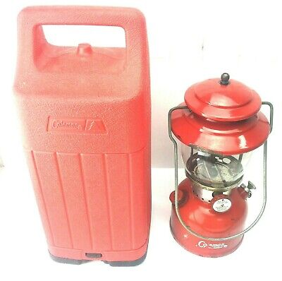 200A Coleman Red Lantern Dated 10-63 with case 1963