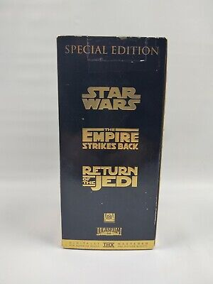 1997 Star Wars Trilogy Special Edition VHS Gold Box Set