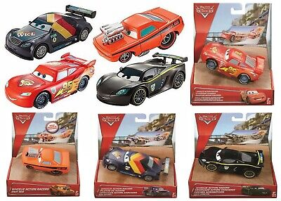 Disney Cars Pull Back Wheelie Action Racers Ages 3+ Lightning Mcqueen Snot Rod
