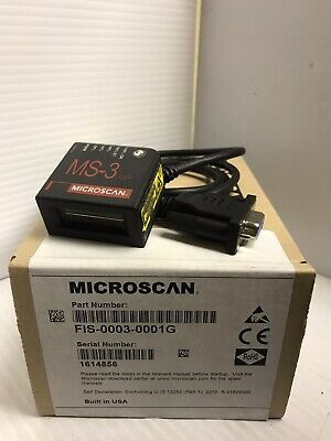 New Microscan Ms-3 Laser Barcode Reader Scanner Fis-0003-0001G Fis00030001G