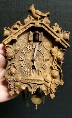 Vintage Miniature Cuckoo Clock By Lux Waterbury Conn.