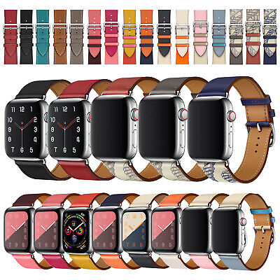40/44mm Genuine Leather Strap for iWatch Apple Watch Band Series 5 4 3 2 38/42mm