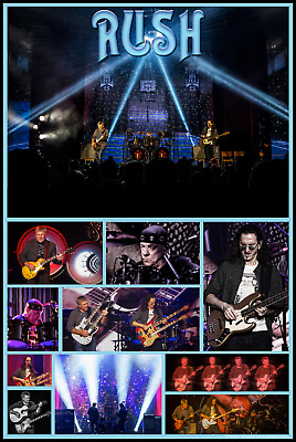 "RUSH concert collage poster 24"" x 36"""