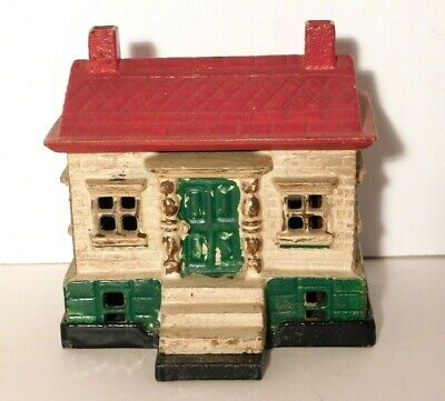 Vtg. Ohio Foundry Co. Cleveland Ohio Cast Iron Repro Antique House Bank 1893