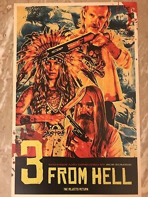 3 FROM HELL 11x17 MOVIE POSTER ROB ZOMBIE Official Limited Edition Devils Reject