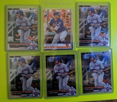 6 card lot Pete Peter Alonso Mets Chrome 2017 2019 Topps Bowman Draft Mets