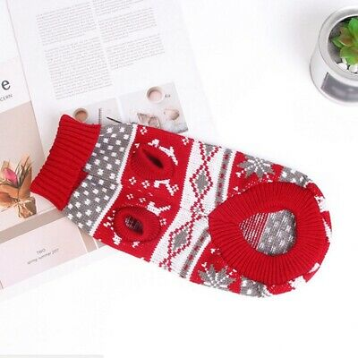 Christmas Pet Dog Warm Outfits Elk Sweater Festival for Small Puppy Clothes US