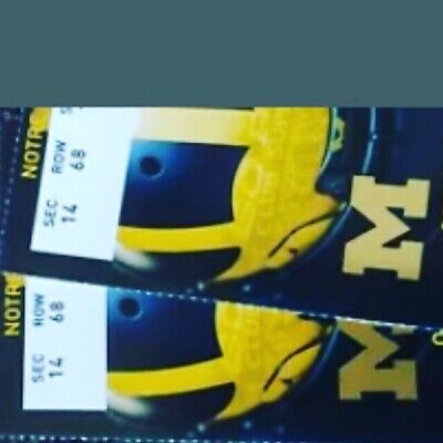 2 Michigan Wolverines vs Notre Dame College Football Tickets 10/26/19 (Row 22)
