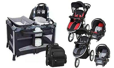 Baby Trend Stroller Jogger Travel System With Car Seat Playard Diaper Bag Combo 449 00 Picclick